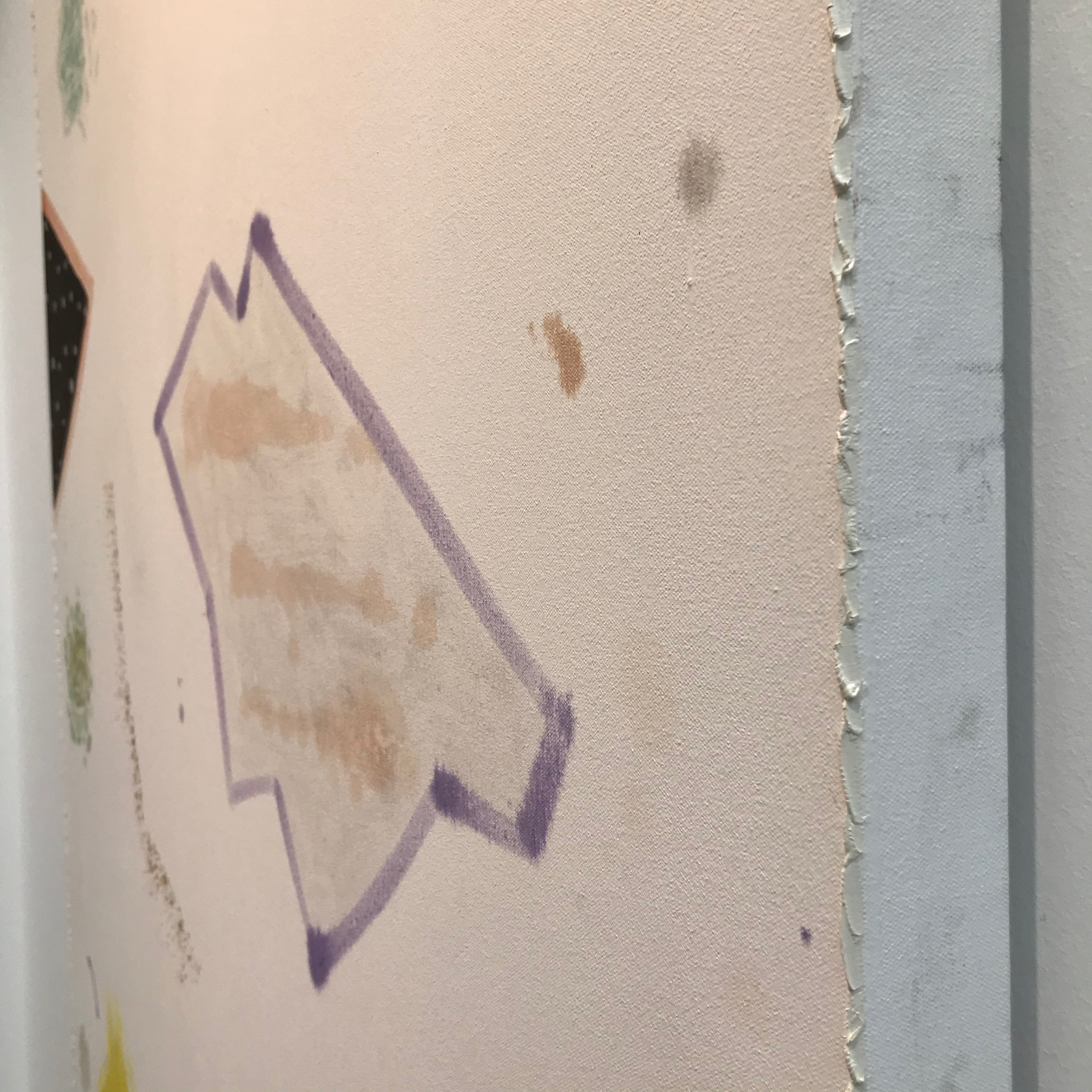 work by Rebecca Morris shown by Galerie Barbara Weiss