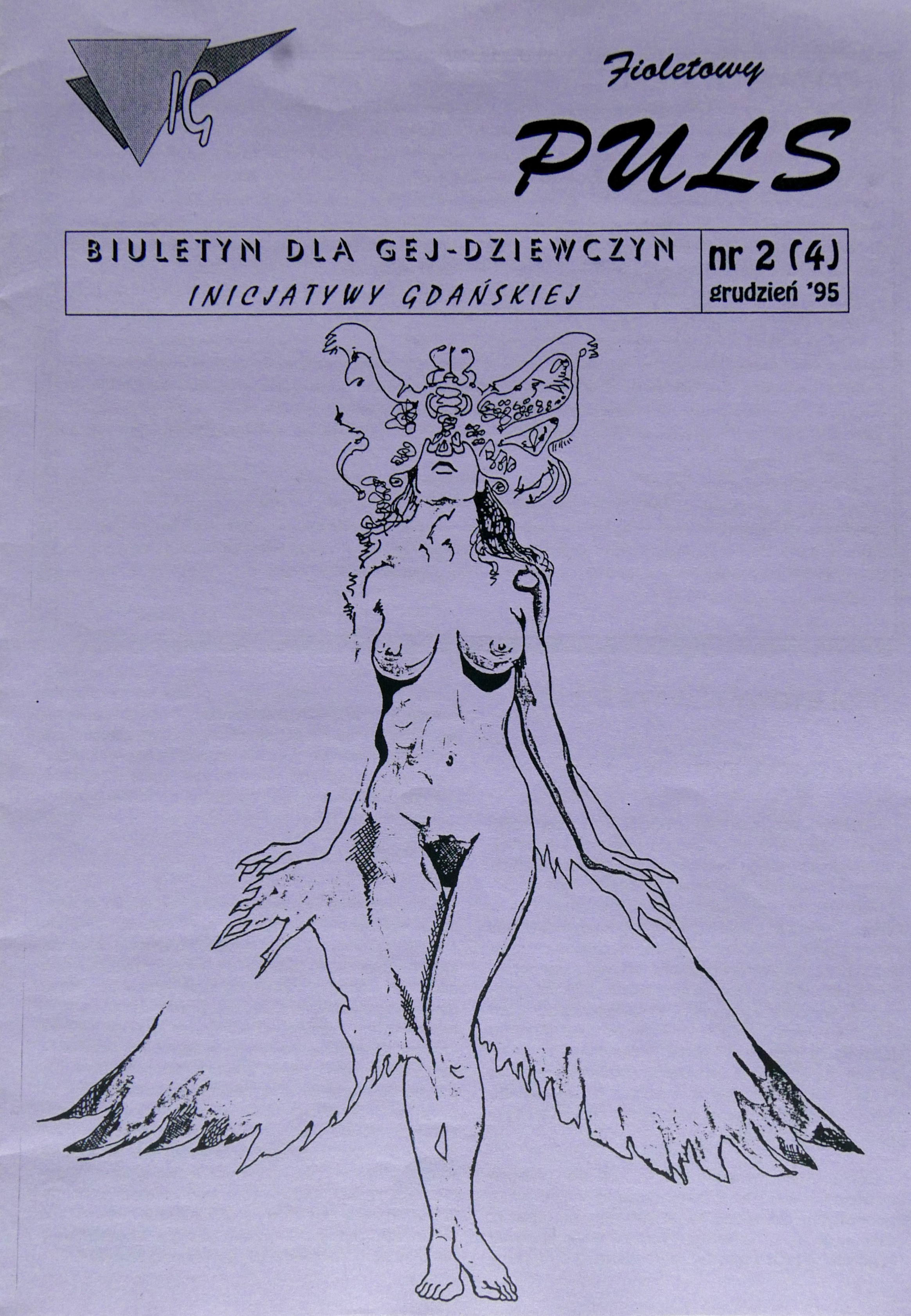 Fioletowy Puls, Polish lesbian magazine, issue No 2, 1995, from the QAI collection