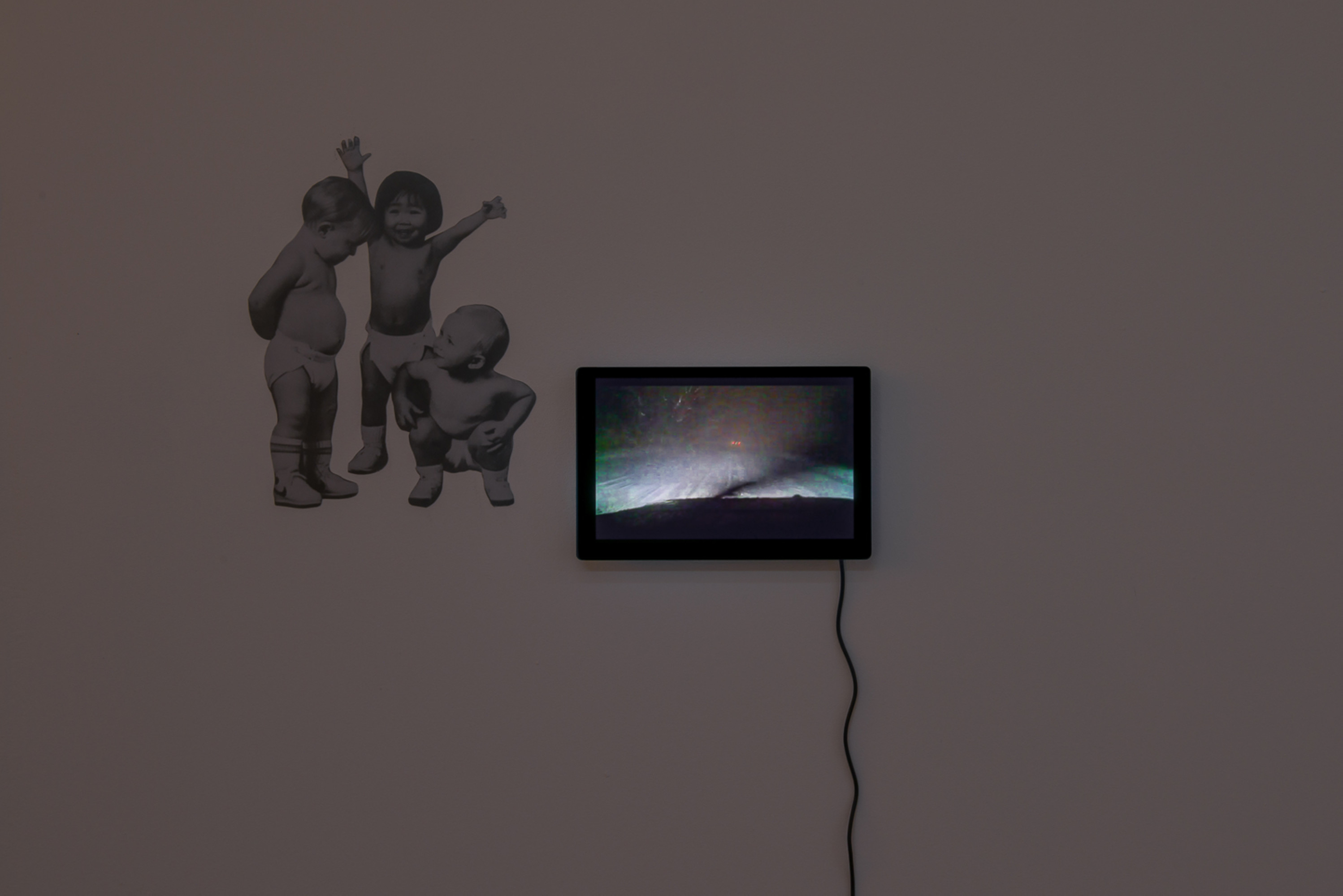 Half-lit World, Stefano Faoro: Untitled, video, digital print on pvc, 2020.