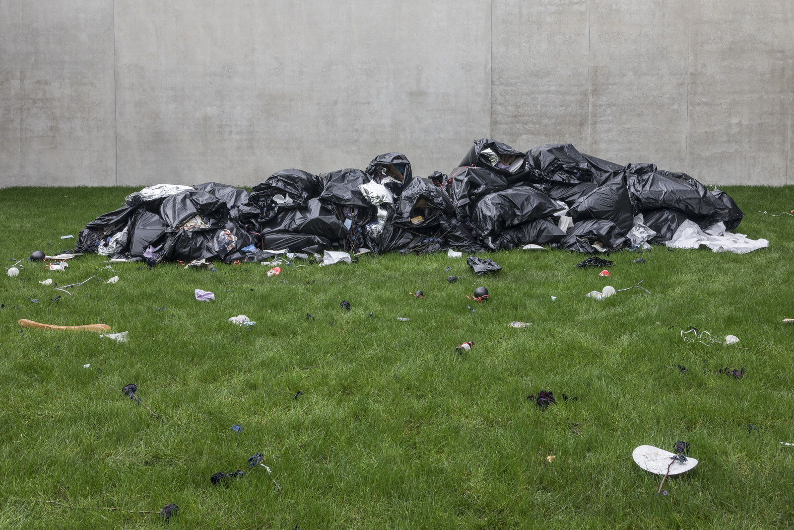 Trash Mound, 2020, installation view.