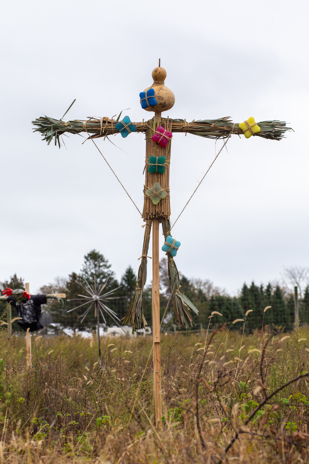 "Steven Mayer, ""Thatch Effigy with Stars"", 2019"