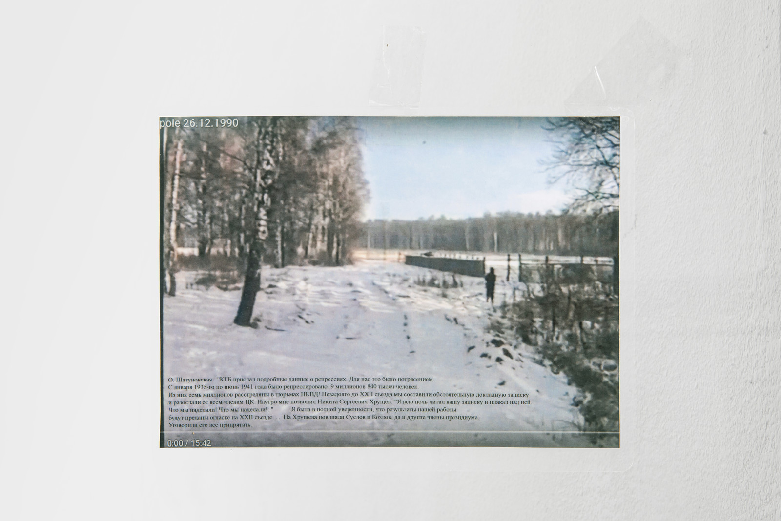 Collective Actions Group, Golden lines in Izmailovo, 2020, laminated evidence 1/20, 188 x 145 mm, courtesy of Plamen gallery, Moscow